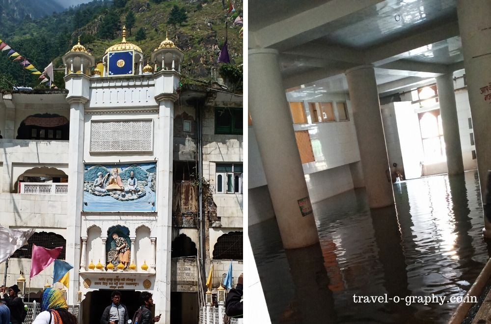 Manikaran sahib entrance & the hot water pool